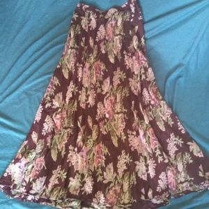 Coldwater Creek Reversible Skirt Sz M